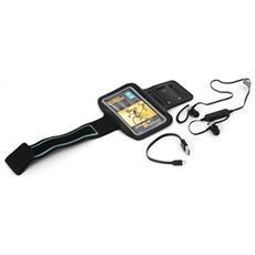 Bracciale Sportivo E Auricolari Bluetooth Con Microfono Pm1075b Nero