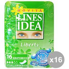 Set 16 Idea Liberty Anatomici X 16 Pezzi Cura Del Corpo