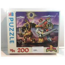 Puzzle Mb 200 Pezzi Power Ranger Megazord Contro Il Nemico 200 Pezzi Originale