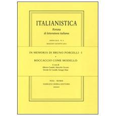 In memoria di Bruno Porcelli. Vol. 1: Boccaccio come modello.