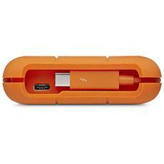 """Hard Disk Esterno 1 TB Thunderbolt 2.5"""" Interfaccia USB 2.0 Colore Arancione"""