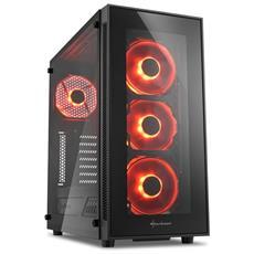 SHARKOON - Case TG5 Middle Tower ATX / Micro-ATX / Mini-ITX 2 Porte USB 3.0 Colore Nero / Rosso (Finestrato)
