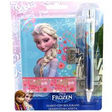 set diario 'frozen - ' blu (+ penna di corrispondenza) - [ m6846]