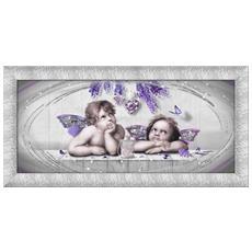Quadro Su Tela Prince 65x135 Cm Cupids Violet Silver