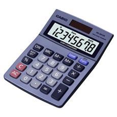 Calcolatrice da Tavolo Grigia 8 Cifre Solare e Batteria 3 Valute 10.3 x 3.1 x 14.5 cm MS-80VER-EU