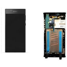 Ricambio Lcd Schermo Display + Touch Screen Unit Digitizer + Frame Nero Originale Sony Per Xperia L1 + Kit Attrezzi Smontaggio