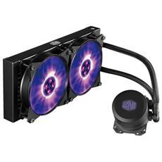 Dissipatore CPU a Liquido MasterLiquid ML240L per Socket Intel LGA 2066 / 2011-v3 / 2011 / 1151 / 1150 / 1155 / 1156 / 1366 / 775 e Socket AMD AM4 / AM3+ / AM3 / AM2+ / AM2 / FM2+ / FM2 / FM1