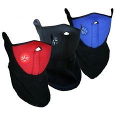 Maschera Protettiva Antivento In Pile Antifreddo Per Sport Moto Bicicletta Copri Collo E Orecchie - Blu