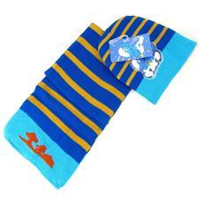 cappello e della sciarpa '' giallo blu - [ k6453]