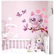 Adesivo Murale Kitty love