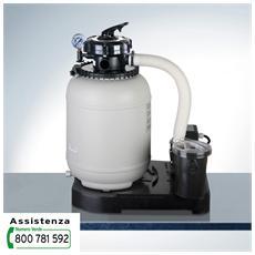 Filtro A Sabbia Monoblocco 125w, Prefiltro, Valvola 5 Posizioni 3m³ / H