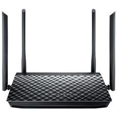 RT-AC1200GPLUS Router Wireless AC1200 Dual Band 867+300 USB 2.0 con supporto 3G-4G LTE 4 Antenne staccabili FTPVPN DLNA Samba Server
