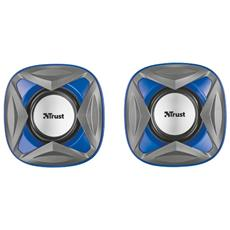 Xilo Compact Set Altoparlanti 2.0 Potenza Totale 8W USB colore Blu
