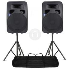 Sistema Audio 2 Casse Attive Amplificate 12'' + 2 Stativi + Borsa Art. Cp170313180550
