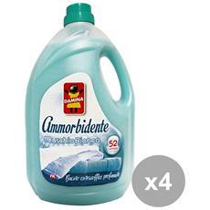 Set 4 Ammorbidente 52 Mis. muschio Bianco 3,9 Lt. Detergenti Casa