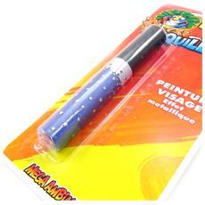 tube 'maquillage festif' faccia di metallo blu - [ i6984]