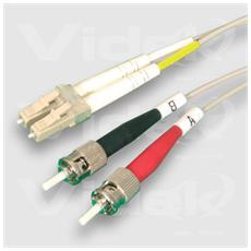 62.5/125 LC to ST Duplex Fibre Optic Cable 3m 3m Grigio cavo a fibre ottiche