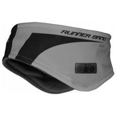 Fascia sport wireless con cuffia integrata, tasto alla risposta colore Grigio