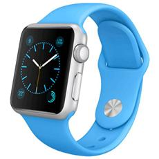 Cinturino WristBand in silicone per Apple Watch da 38mm - Blu
