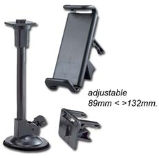 Universal 89-132mmcar Holder With Suction Cup And Air Vent -black
