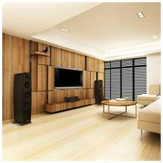 C 10 CEN, Tavolo / Libreria, Speaker set unit, 49 - 27000 Hz, Nero, Legno, 2-vie
