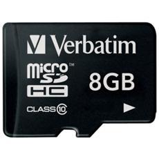 MicroSD da 8gb Class 10
