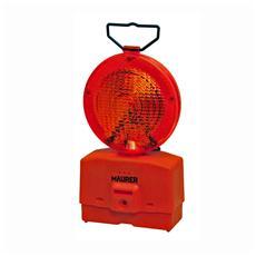 Lampada luce rossa stradale da cantiere lampeggiante o fissa 2 Batteria 6V