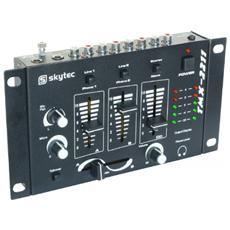 Mixer analogico amatoriale 3 4 canali con 2 ingressi mic e 1 uscita cuffie