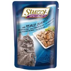 Cibo per gatti Cat con Pesce Bianco 100 gr