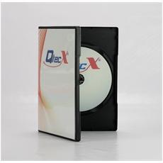 50 Custodie cd / dvd 14mm nera singola con tasca locandina