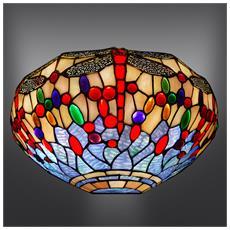 Applique Dragonfly Lampada Da Parete In Vetro Stile Tiffany