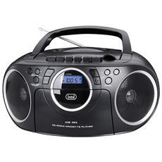 Radio Registratore Cd Cassetta Cmp 572 Nero