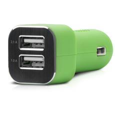 Adattatore Alimentazione USB per Auto 2 Porte - Verde