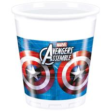 Avengers Assemble 8 Bicchieri In Plastica