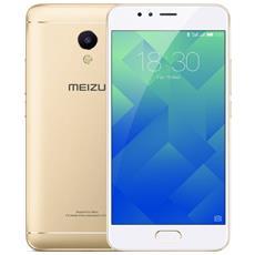 "M5S Oro 16 GB 4G / LTE Dual Sim Display 5.2"" HD Slot Micro SD Fotocamera 12 Mpx Android Italia"