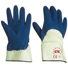 Guanti In Lattice Colore Blu Con Supporto In Cotone E Con Manichetta Taglia 9