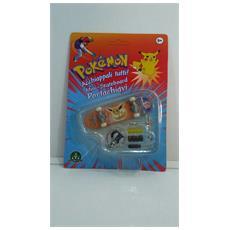 Pokemon Mini-skateboard Portachiavi Con Ruote E Accessori - Eevee - 8000144512157
