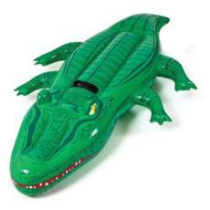 Gioco gonfiabile coccodrillo per bambini con maniglia da mare e piscina