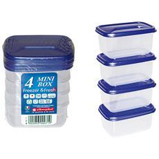 Set 4 Minicontenitori Micro Contenitori Per Alimenti
