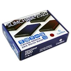 "Slimchase 2520, 6,35 cm (2.5"") , SATA, Argento, Alluminio, USB"