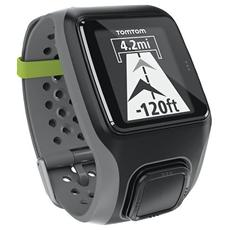 """Sportwatch GPS Multisport Resistente all'acqua 5 ATM Dsiplay 1"""" con Bluetooth e Cardiofrequenzimetro Grigio Scuro"""