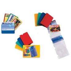 5 buste porta card 1 color 1 tasca 5,8x8,7cm assort.