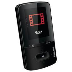 """Lettore Mp3 / Mp4 GoGEAR Vibe SA4VBE04KN / 12 4 Gb porta USB Display 1,8"""" Colore Nero"""