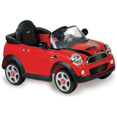 Auto Elettrica Mini Cooper con Luci, Suoni e Telecomando 6 Volt 1022 / R