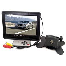 """Monitor Lcd 7"""" Pollici Tft Con Telecomando Per Auto Macchina Casa Camper Tvcc"""