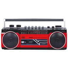 Radio Registratore A Cassette Con Bluetooth Rr 501 Bt Rosso
