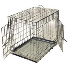 gabbia in ferro pieghevole cm 78x55x61h