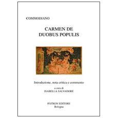 Carmen de duobus populis. Testo latino a fronte