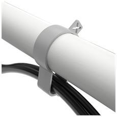 Viewgo braccio porta monitor - scrivania 120, Clamp / Bolt-through, 75 x 75,100 x 100 mm, Bianco, Schiuma, Acciaio, -50 - 90°