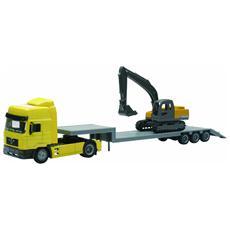 DieCast 1:43 Camion Man F2000 Lowboy T. With Excavator 15483